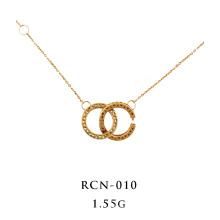 Ineinandergreifende Halskette 18K Gelbgold