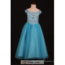 Custom Made Flower Girl Dress Party Gown Beads Crystal Prom Dresses