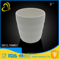 ODM and OEM cutomized unbreakable plastic melamine white tumbler
