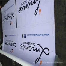 Bannière extérieure en PVC, bannière flexible, bannière en vinyle