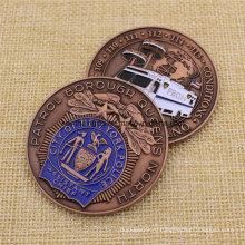 Обычная металлическая эмаль Us Nypd Challenge Coin