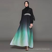 Propietario diseñador marca OEM etiqueta fabricante mujeres vestido ropa islámica personalizada abaya