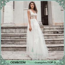 Top quanlity ver-através do casamento de praia vestido casual longo alibaba vestidos de noiva