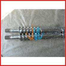 Barril de tornillo de extrusora de plástico para barril de tornillo de aleación de tubo de cpvc con diseño especial