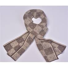 Mens Classic Gentlemen Knitted Winter Checked Printing Scarf (SK813)
