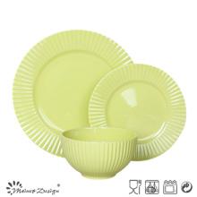 18ШТ мятного цвета с тиснением Керамическая посуда высокого качества