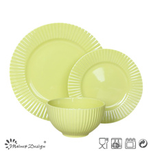 18PCS Mint Color Embossed Ceramic Dinner Set High Quality