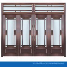 Puerta de entrada de vidrio comercial de puerta de entrada moderno