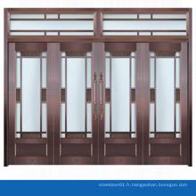 Porte d'entrée d'entrée moderne porte verre Commercial