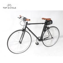 CE estándar 700C bici fija colorida del engranaje bicicleta eléctrica