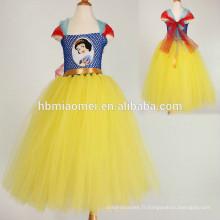 Vêtements pour enfants Summer nouvelles fleurs de style européen Vêtements pour filles Princesse robe tutu à la main en gros