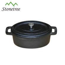 Ensemble de plats de cuisson en fonte de couleur noire