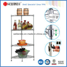 Modern 4 Tiers DIY Metal Wire Home Corner Shelf Rack