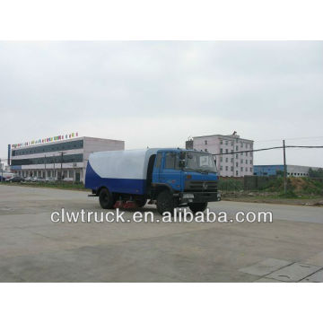 DongFeng 145 camión barredora de camino, tanque de polvo 5m3, tanque de agua 3m3