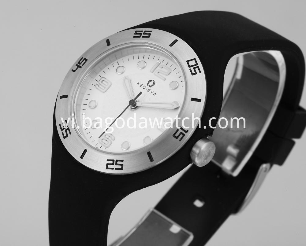 Stainless Steel Silicone Band Watches