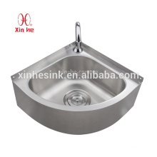 Stainless Steel Outdoor Pedestal or wallmount wash basin, Stainless Steel Corner Sink