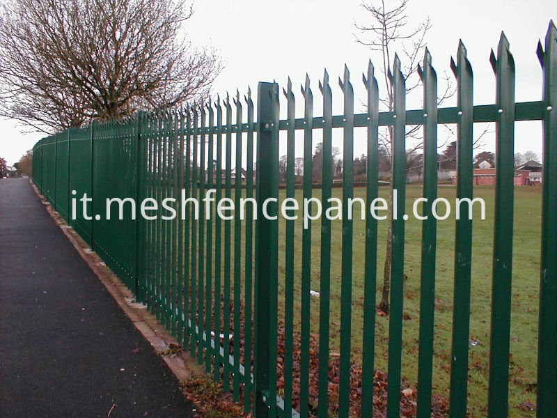 pvc coated palisade fence