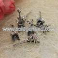 24*13MM Antique Silver 3D Eiffel Tower Charms Pendants