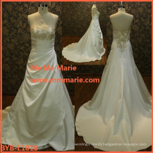 beautiful bridal dress puffy princess ball gown wedding dress white linen wedding dress BYB-L1018