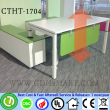 screw height adjustable tables office desks artificial stone dining table reception table