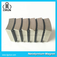 Nickel Coating Custom Arc Shape N52 Super Strong Neodymium DC Motor Magnet