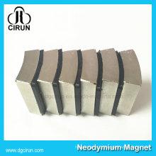 Ímã forte super feito sob encomenda do motor da CC do neodímio da forma N52 do arco do revestimento de níquel