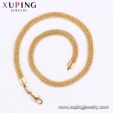 44291 xuping corpo jóias preço direto da fábrica simples pesado cadeias de ouro colar com chumbo e níquel livre