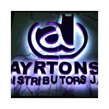 Led stainless steel backlit channel letter sign guaranteed quality led sign letter outdoor signs