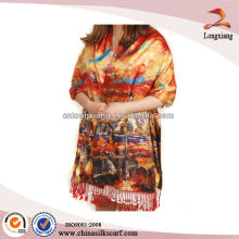 digital printed double Layer cashmere pashmina