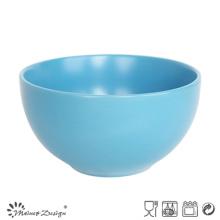 Bacia redonda azul da faiança cerâmica