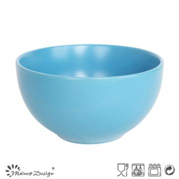 Blue Ceramic Stoneware Round Bowl