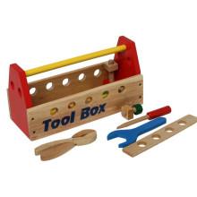 Brinquedo caixa de madeira de ferramentas