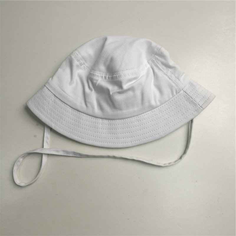 White String Cotton Twill Bucket Hat