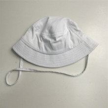 Weißer String Cotton Twill Bucket Hat