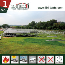 Modular Adjustable Flooring System for outdoor Event Tent
