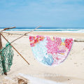 Hot sale Custom Popular design 100% cotton Round beach towel BT-527 china supplier