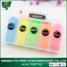 ERSTE H025 Werbeartikel, 5 in 1 Mini Highlighter Pen für Kinder