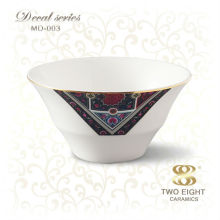 best selling items bone china rice bowl with decal design