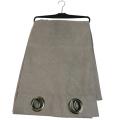 Grey window fabric curtain