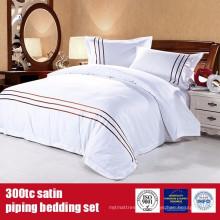 Linho 100% luxuoso luxuoso do cetim do algodão 300TC para hotéis