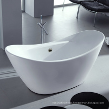 "Acrylic 67"" Upc Double Slipper Freestanding Bathtub"