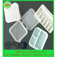 Milky White Cup Lids HIPS Plastic Film