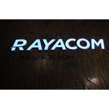 Advertising Frontlit LED Letter Sign, Acrylic LED Channel Letter, Outdoor/Indoor LED Logo