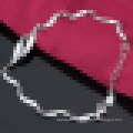 Women′s 925 Sterling Silver Twisted Piece Bracelet Fashionable Valentine′s Day Gift
