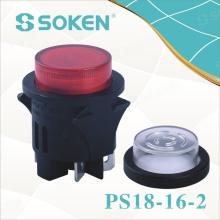 Interruptor de botão de pressão redonda impermeável