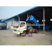 Dongfeng brazo hidráulico camión de basura Mini 4000litres pequeño camión de basura nuevo