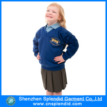 Cheap Custom Blue Girls School Uniform From Bangladesh