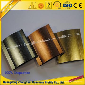 Los fabricantes de aluminio de alta calidad personalizaron el perfil de extrusión de aluminio cepillado