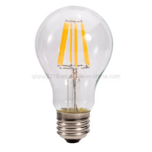 6.5W A60 Clear Dim E27 220V Trabajo Home Light Bombilla LED