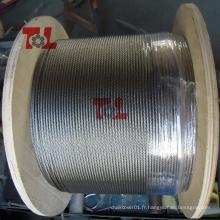 Câble d'acier inoxydable SS304 Stee
